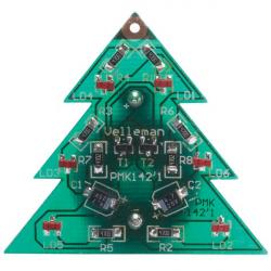 Stavebnice - Elektronický SMD vánoční stromek. 6 LED
