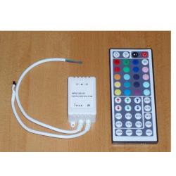 Tříkanálový LED mixer + DO/44 tlačítek. 12V. max. 3x2A/72W