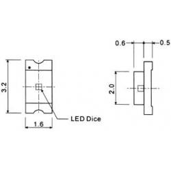 SMD LED 1206. modrá