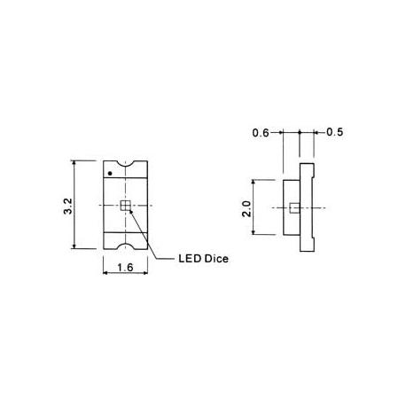 SMD LED 1206. červená
