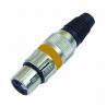 XLR zásuvka ROAD METAL. žlutá