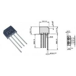 Usměrňovací můstek 2A 600V
