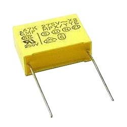 Foliový kondenzátor 470N/275VAC