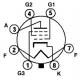 Pentoda. nf zesilovač výkonu, párovaná dvojice