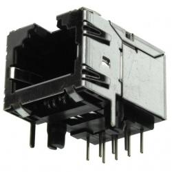 Zásuvka RJ do DPS 8P8C