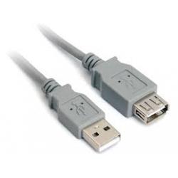 Kabel USB 2.0 A-A prodlužovací 2m