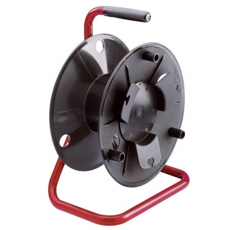 Kabelový buben, KTBK, černá/červená