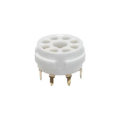 Elektronková patice oktal keramická do PCB