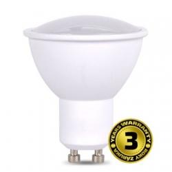 LED žárovka.  SMD. GU10. teplá bílá. 7 W