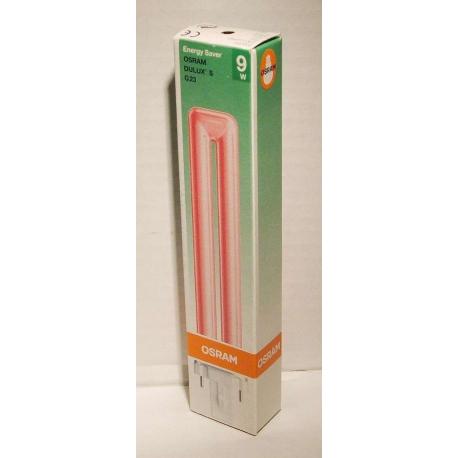 9W G23 barevná úsporná zářivka Osram