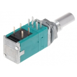 Potenciometr stereo otočný s vypínačem 50k / A