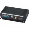 Konvertor VGA+stereo na HDMI (DVI-D). 1x VGA in. 1x HDMI out. 1x VGA ou