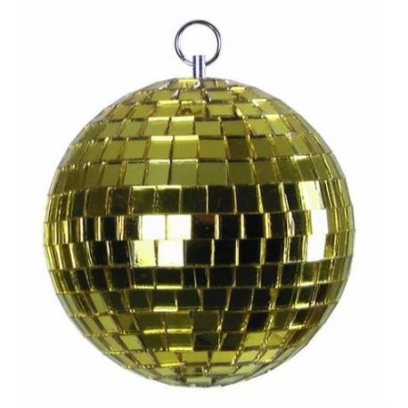 Zrcadlová koule 5cm žlutá