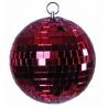 Zrcadlová koule 10cm červená