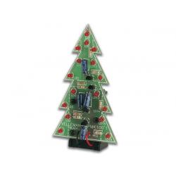 Stavebnice - Elektronický vánoční stromek. 16 LED. 9V