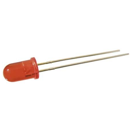 LED 5mm. červená